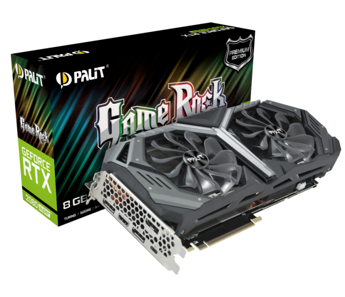 Видеокарта Palit GeForce RTX 2080 Super GAMEROCK Premium Edition