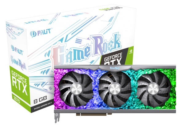 Видеокарта Palit GeForce RTX 3070 GameRock 8GB